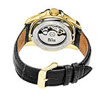 Reign Unisex Adult Automatic Black Leather Strap Watch-Reirn4505
