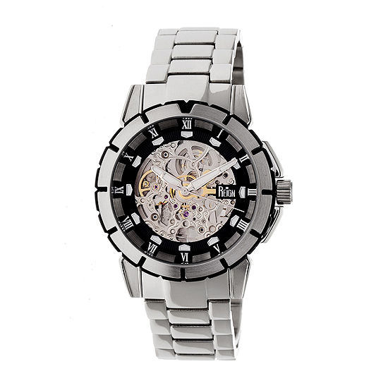 Reign Unisex Adult Automatic Silver Tone Stainless Steel Bracelet Watch-Reirn4602