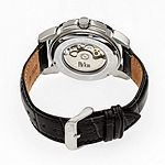 Reign Unisex Adult Automatic Black Leather Strap Watch-Reirn4604
