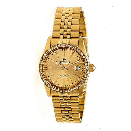 Empress Unisex Adult Gold Tone Stainless Steel Bracelet Watch-Empem1508