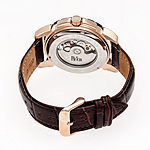 Reign Unisex Adult Automatic Brown Leather Strap Watch-Reirn4606