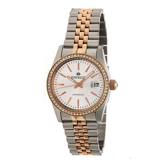 Empress Unisex Adult Two Tone Stainless Steel Bracelet Watch-Empem1507