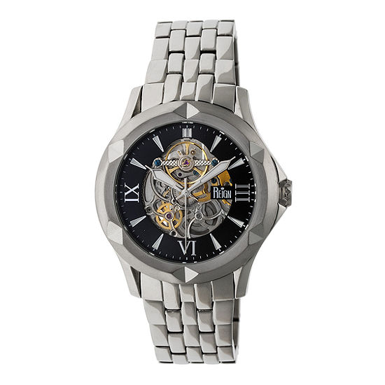 Reign Unisex Automatic Silver Tone Stainless Steel Bracelet Watch-Reirn4702