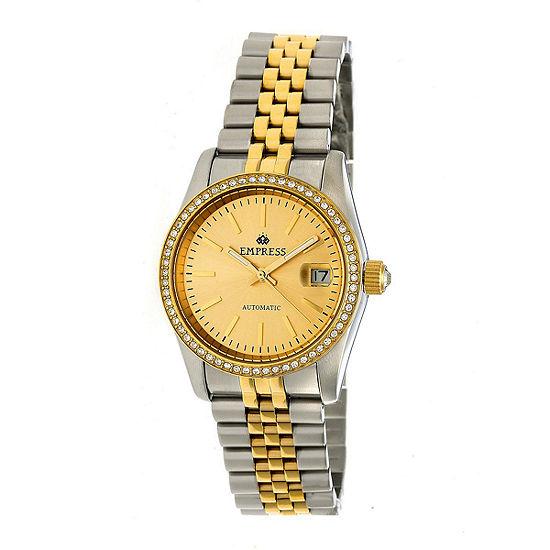 Empress Womens Two Tone Stainless Steel Bracelet Watch-Empem1506