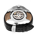 Reign Unisex Adult Automatic Black Leather Strap Watch-Reirn4704