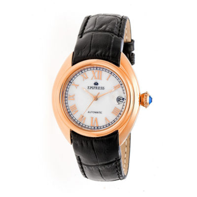 Empress Unisex Black Strap Watch-Empem1405