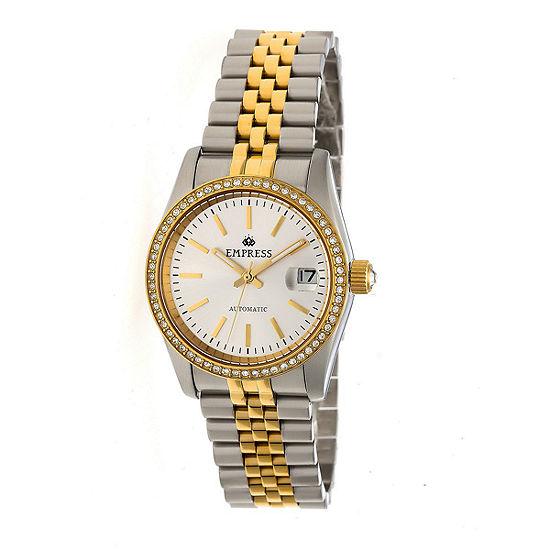 Empress Unisex Adult Two Tone Stainless Steel Bracelet Watch-Empem1505