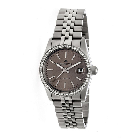Empress Unisex Adult Silver Tone Stainless Steel Bracelet Watch-Empem1503
