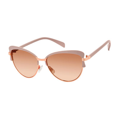 Libby Edelman Full Frame Round UV Protection Sunglasses-Womens