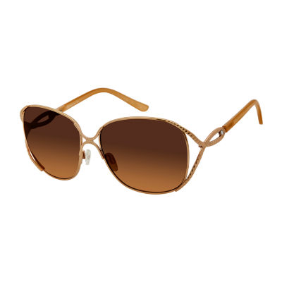 Rocawear Full Frame Round UV Protection Sunglasses-Womens