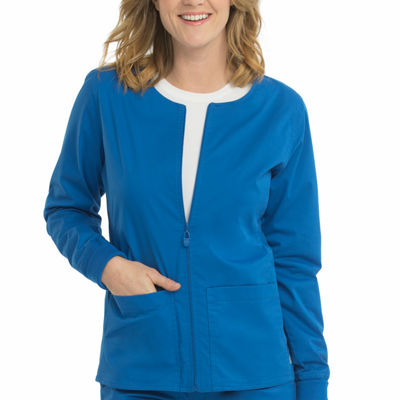 Med Couture 8687 In-Seam Zip Front Warm Up Scrub Jacket