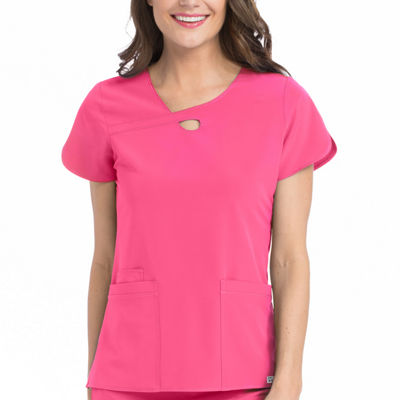 Med Couture 4-Ever Flex Lola Keyhole  Scrub Tops