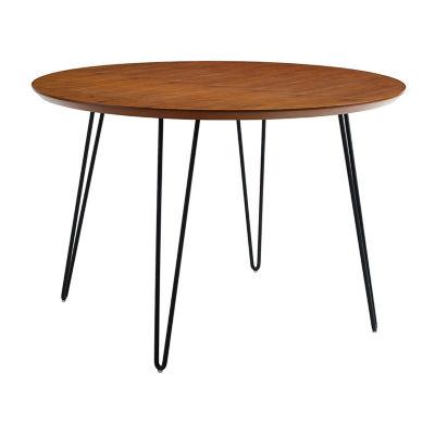 Round Hairpin Leg Dining Table