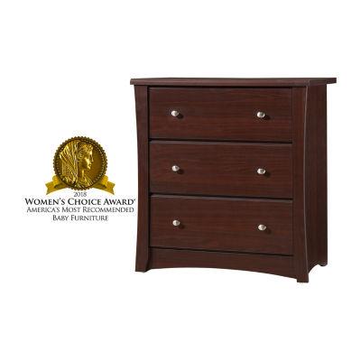 Storkcraft Crescent 3-Drawer Nursery Dresser - Espresso