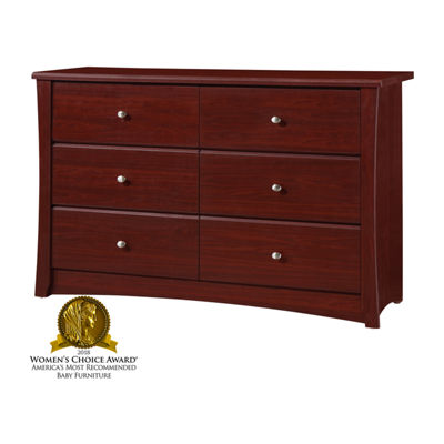 Storkcraft Crescent 6-Drawer Chest - Cherry