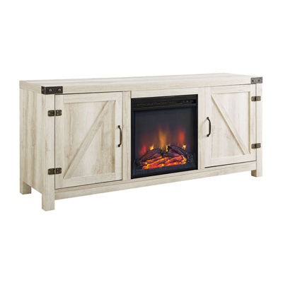 "58"" Barn Door Fireplace TV Stand"