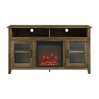 "58"" Wood Highboy Fireplace TV Stand"