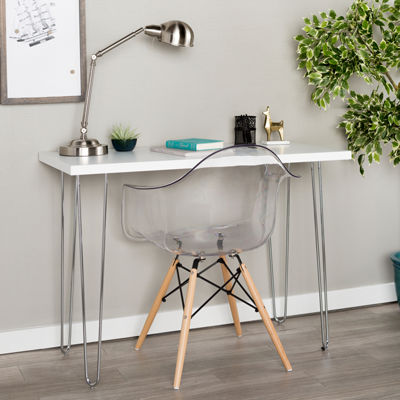 "42"" Hairpin Leg Wood Writing Desk"