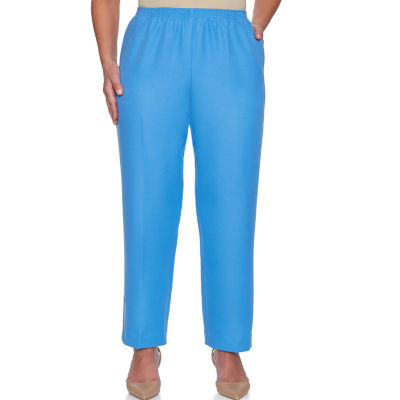 Alfred Dunner Classics Woven Pull-On Pants-Misses Short