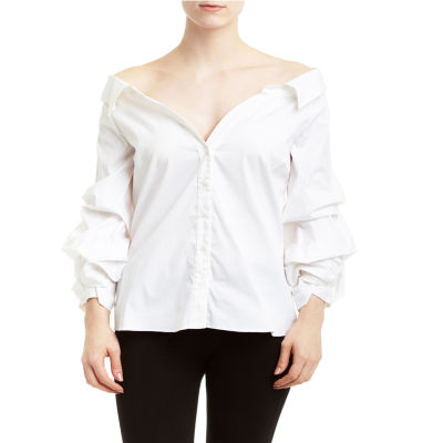 Romeo and Juliet Couture Gathered Sleeve Shirt