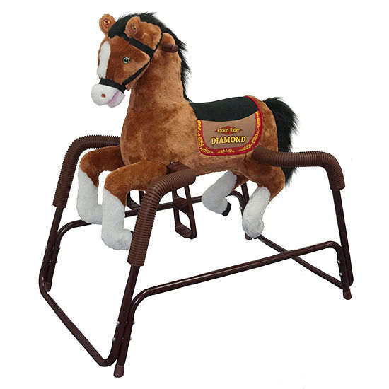Rockin Rider Diamond Talking Plush Spring Horse