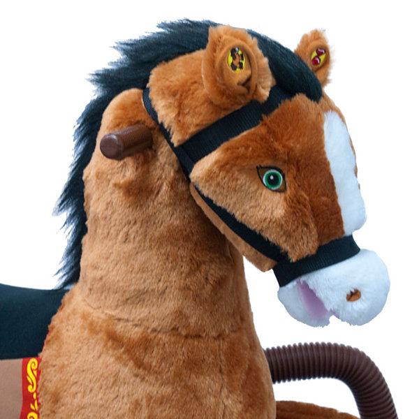 Rockin' Rider Diamond Talking Plush Spring Horse