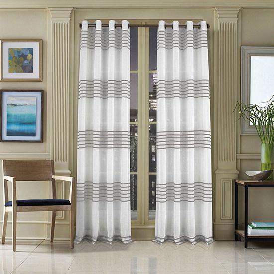 Queen Street Freeport Light-Filtering Grommet-Top Curtain Panel