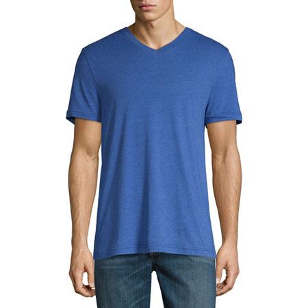 Arizona Super Soft Mens V Neck Short Sleeve T-Shirt, Xx-large , Blue