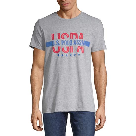 Us Polo Assn Mens Crew Neck Short Sleeve Graphic T Shirt