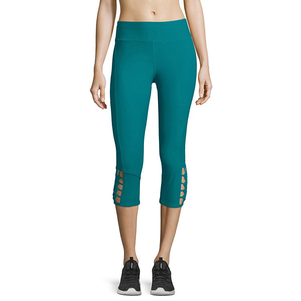 Xersion Macrame Mid Rise Capri Leggings