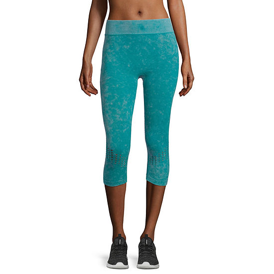 Xersion Seamless Snow Wash Capri Mid Rise Capri Leggings