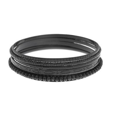Mixit Womens 5-pc. Black Bracelet Set