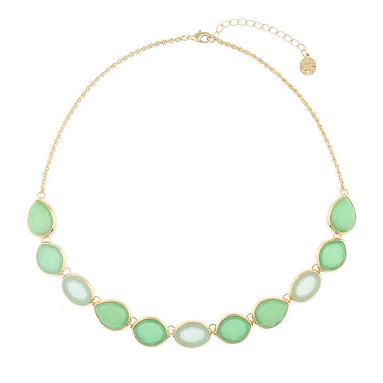 Monet Jewelry Hollywood Vine Green 17 Inch Rope Collar Necklace