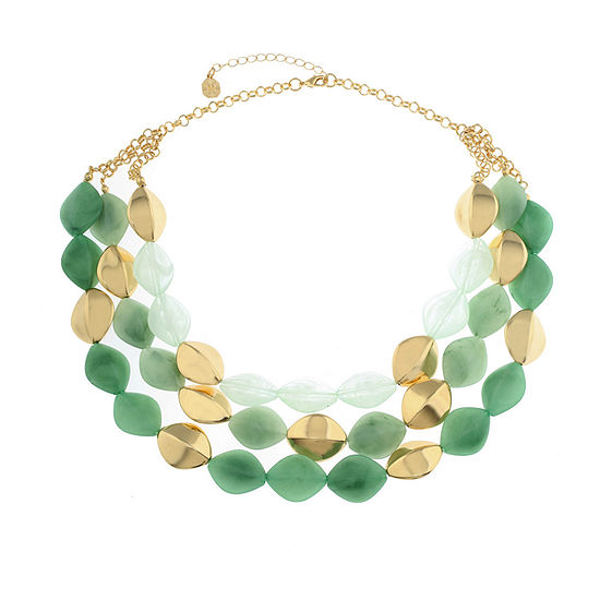 Monet Jewelry Hollywood Vine Green 18 Inch Cable Collar Necklace