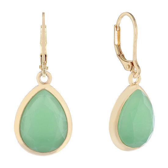 Monet Jewelry Hollywood Vine Green Drop Earrings