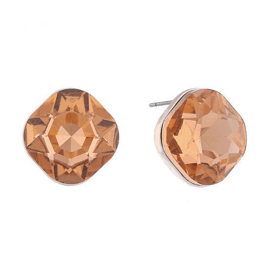 Monet Jewelry String Lights Orange 135mm Stud Earrings