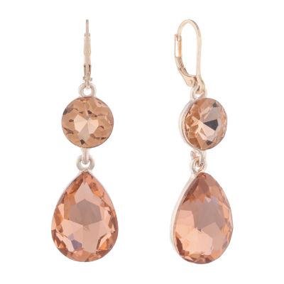 Monet Jewelry String Lights Orange Drop Earrings