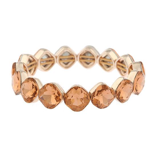 Monet Jewelry String Lights Orange Stretch Bracelet