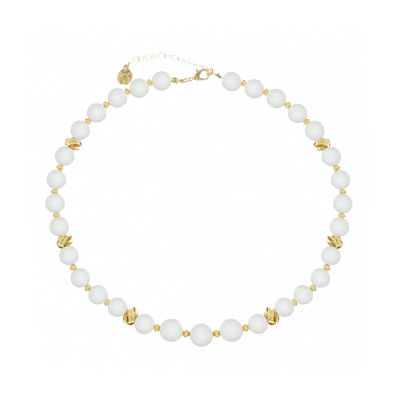 Monet Jewelry Pearl Knot Womens Collar Necklace