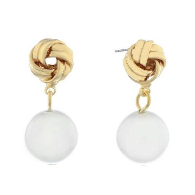 Monet Jewelry Pearl Knot Drop Earrings
