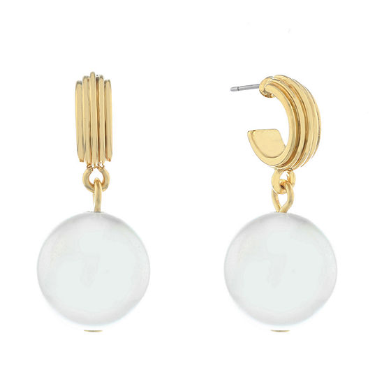 Monet Jewelry Pearl Knot Drop Earrings