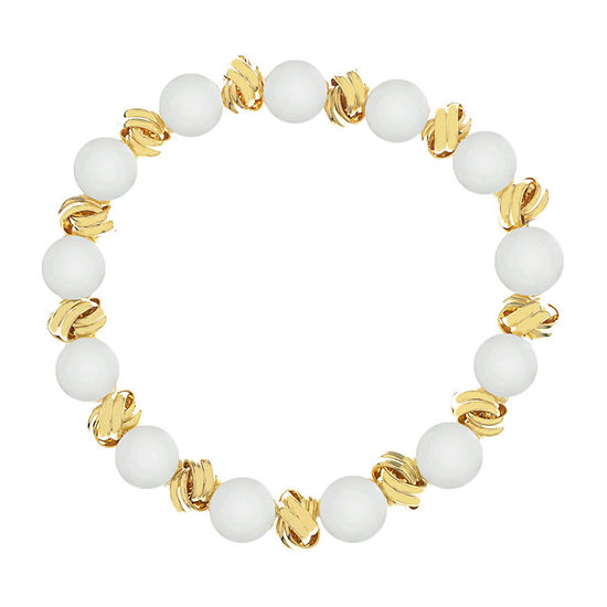 Monet Jewelry Pearl Knot Stretch Bracelet