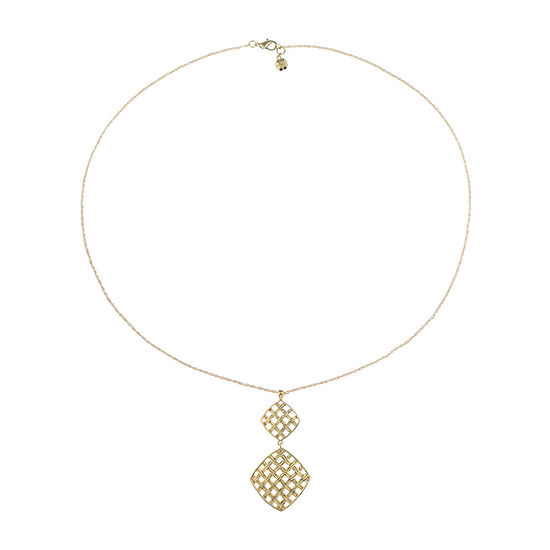 Monet Jewelry Summer Picnic 30 Inch Rope Square Pendant Necklace