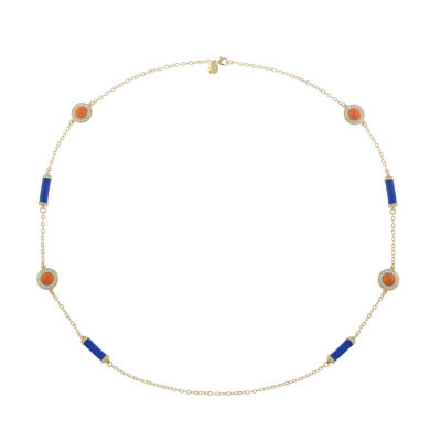 Monet Jewelry 90th Anniversary Womens Multi Color Round Strand Necklace