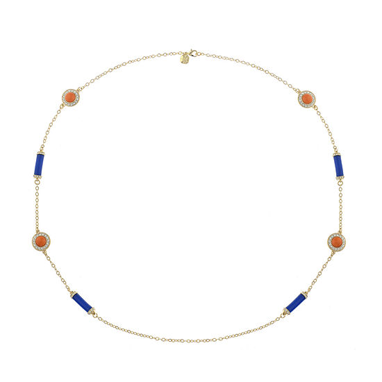 Monet Jewelry 90th Anniversary Multi Color 34 Inch Cable Round Strand Necklace