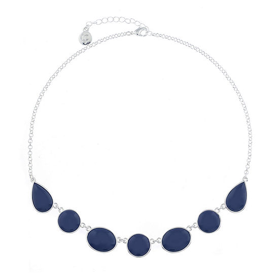 Liz Claiborne Shes A Rainbow Blue 17 Inch Cable Round Collar Necklace