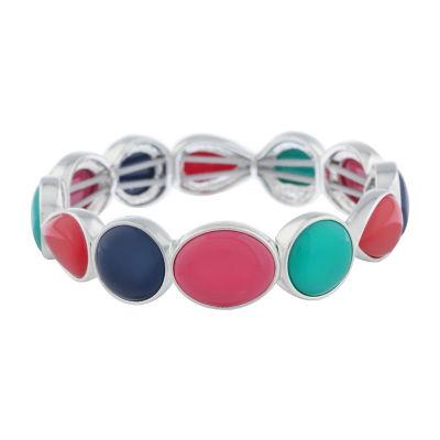 Liz Claiborne Shes A Rainbow Multi Color Round Stretch Bracelet