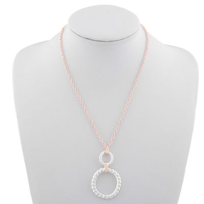 Monet Jewelry Classic With A Metal Twist Womens Pendant Necklace