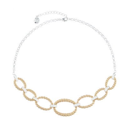 Monet Jewelry Classic With A Metal Twist Womens Collar Necklace