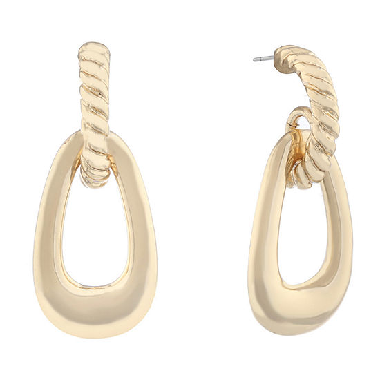 Monet Jewelry Classic With A Metal Twist Drop Earrings